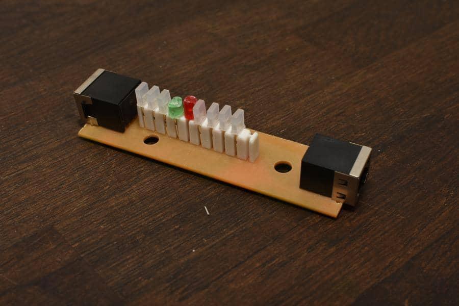 nowe diody na płytce testera