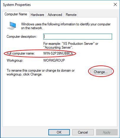Obecna nazwa komputera
