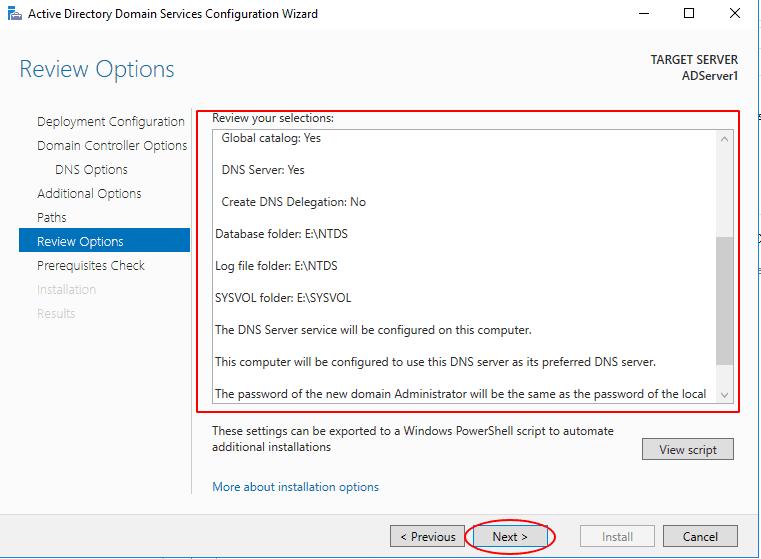 Podsumowanie konfiguracji active directory
