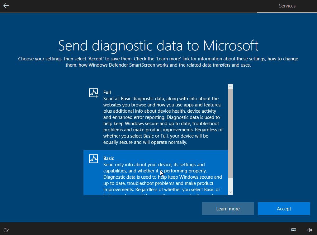 przesyłanie danych diagnostycznych