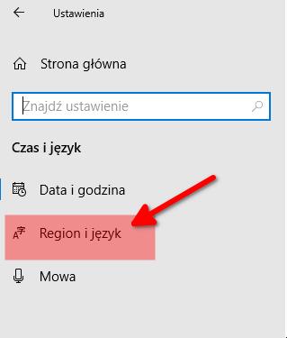 region i język