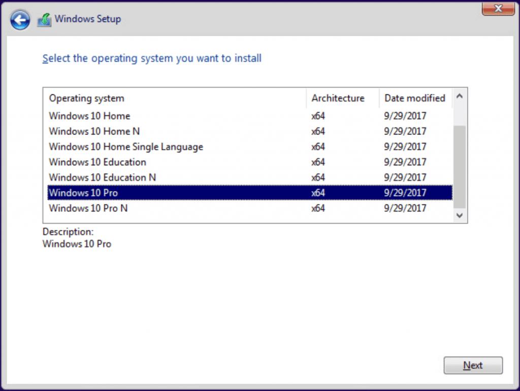 wybieranie wersji systemu windows