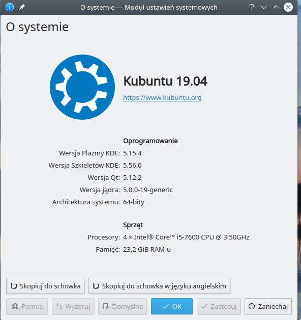 ubuntu po aktualizacji