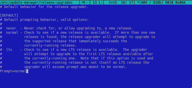 zmiana w w pliku relase-upgrades