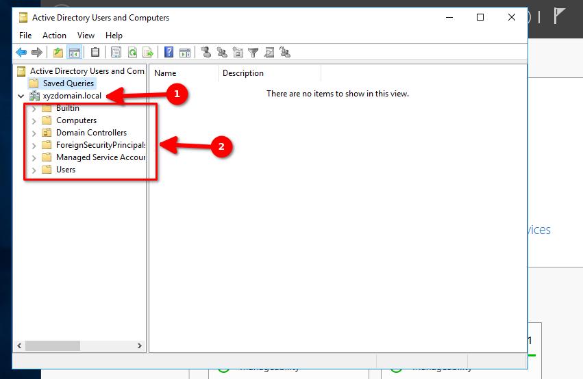 domyślna struktura Active Directory